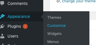 WP Appearence Customise
