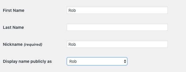 WP Username Rob