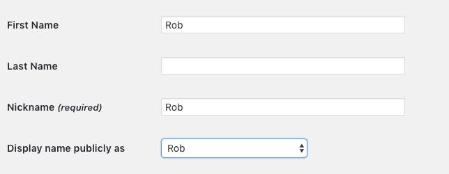 WP Username Rob