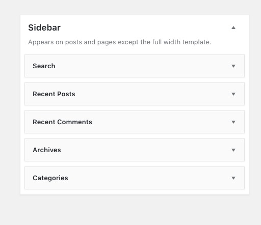 WP Widgets sidebar after delete